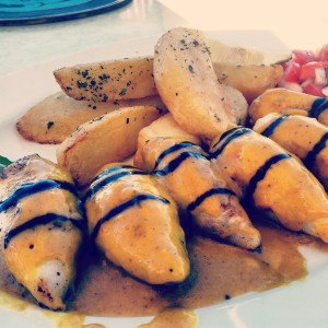 Stuffed Calamari at The Greek Fisherman